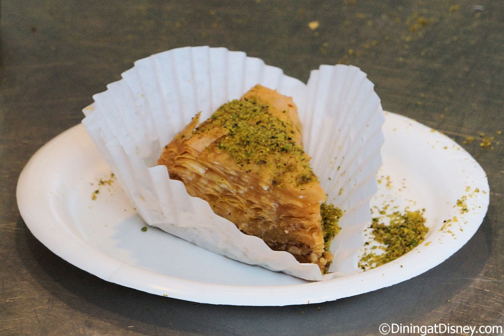 Pistachio Baklava from Taste of Marrakesh at the 2015 Epcot  Flower and Garden Festival