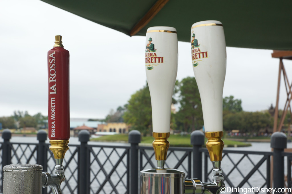 Moretti Lager and La Rossa  from Primavera Kitchen at the 2015 Epcot  Flower and Garden Festival