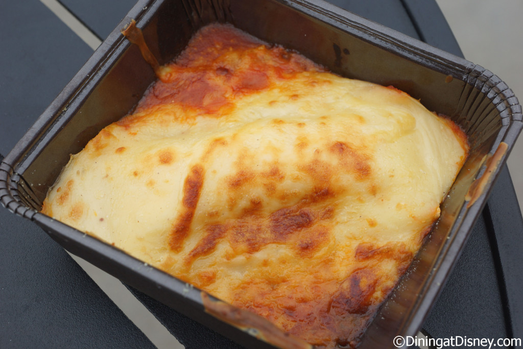 Cheese Manicotti – Egg pasta, stuffed with Mozzarella, Ricotta, Parmesan, tomato sauce and béchamel from Primavera Kitchen at the 2015 Epcot  Flower and Garden Festival