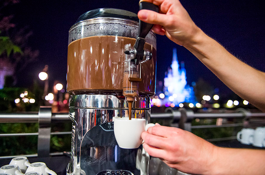 Hot chocolate at Wishes Firework Dessert Party