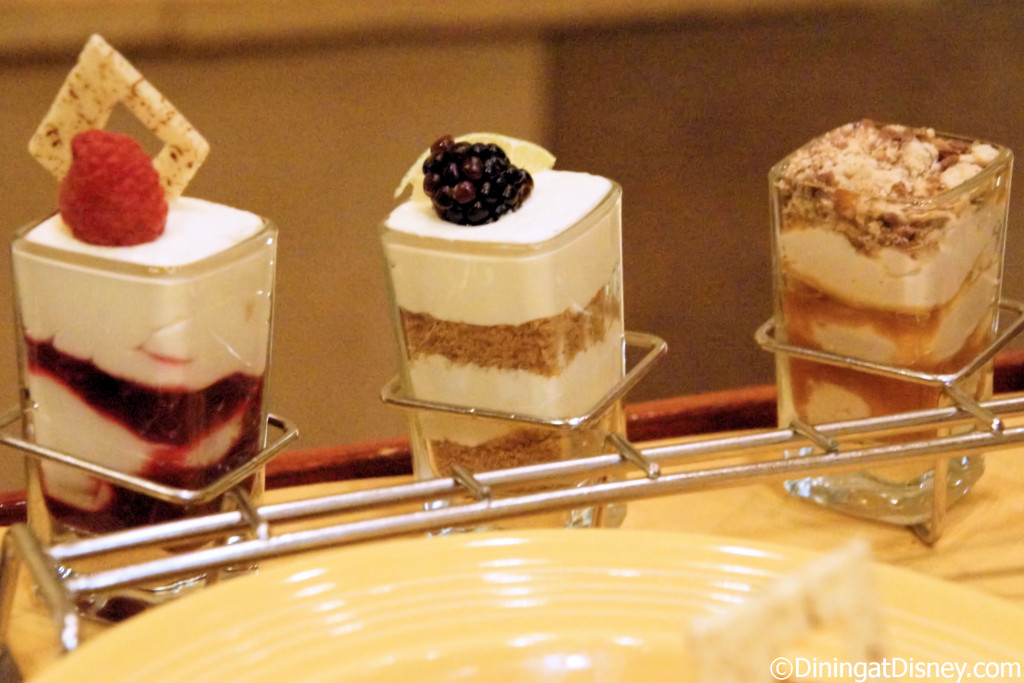 Dessert shots from Maya Grill at Disney's Coronado Springs Resort