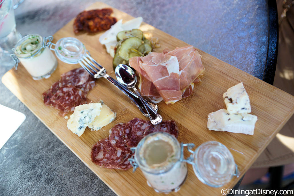 Artisanal Cheese & Charcuterie Board for Two - An assortment of Artisanal Cheeses with Salami Calabrese, Salami Toscano, Duck Rillette, Imported Prosciutto, and Pâté de Campagne at The Hollywood Brown Derby Lounge