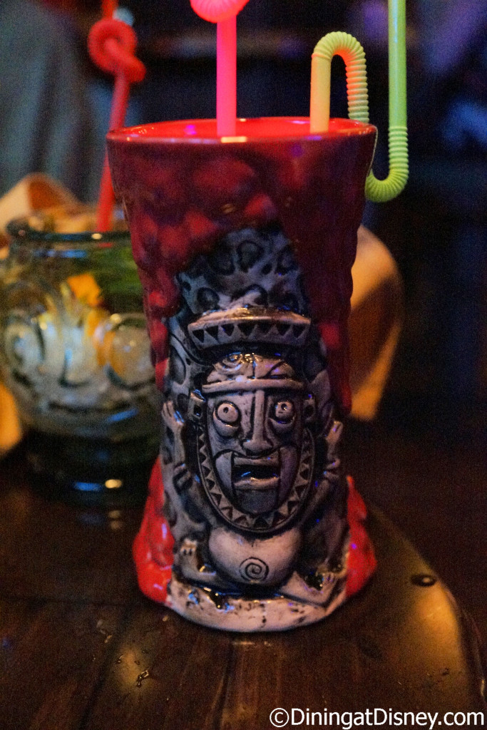 Krakatoa Punch - Sailor Jerry Spiced Rum, Pyrat XO Reserve Rum, Orgeat (Almond), Sam's Groilla Grog and Hibiscus Grenadine at Trader Sam's Grog Grotto
