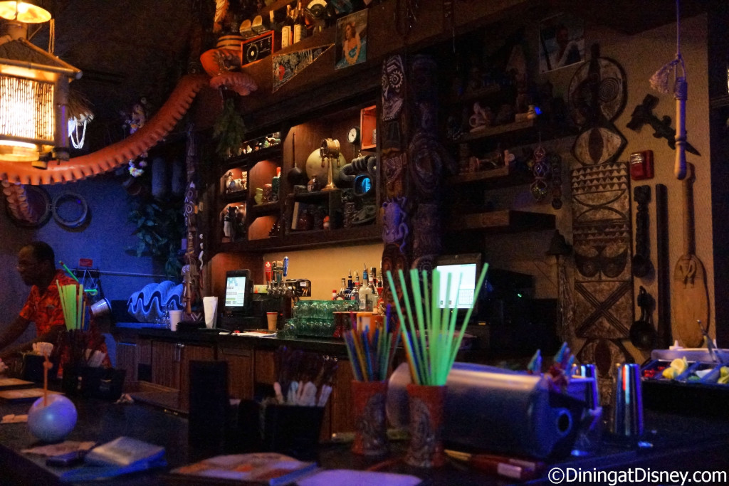The craz bar at Trader Sam's Grog Grotto