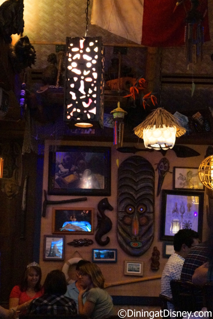 Tiki Gods and other tropical decor at Trader Sam's Grog Grotto