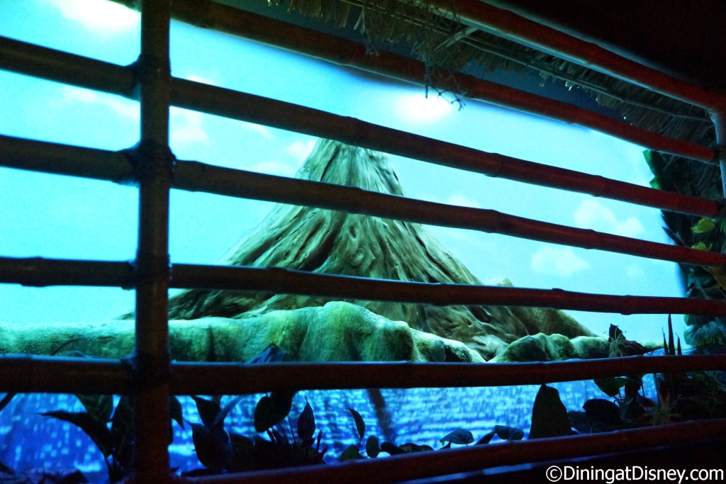 The volcano at Trader Sam's Grog Grotto  seems calm for now, but you never know when it might erupt!
