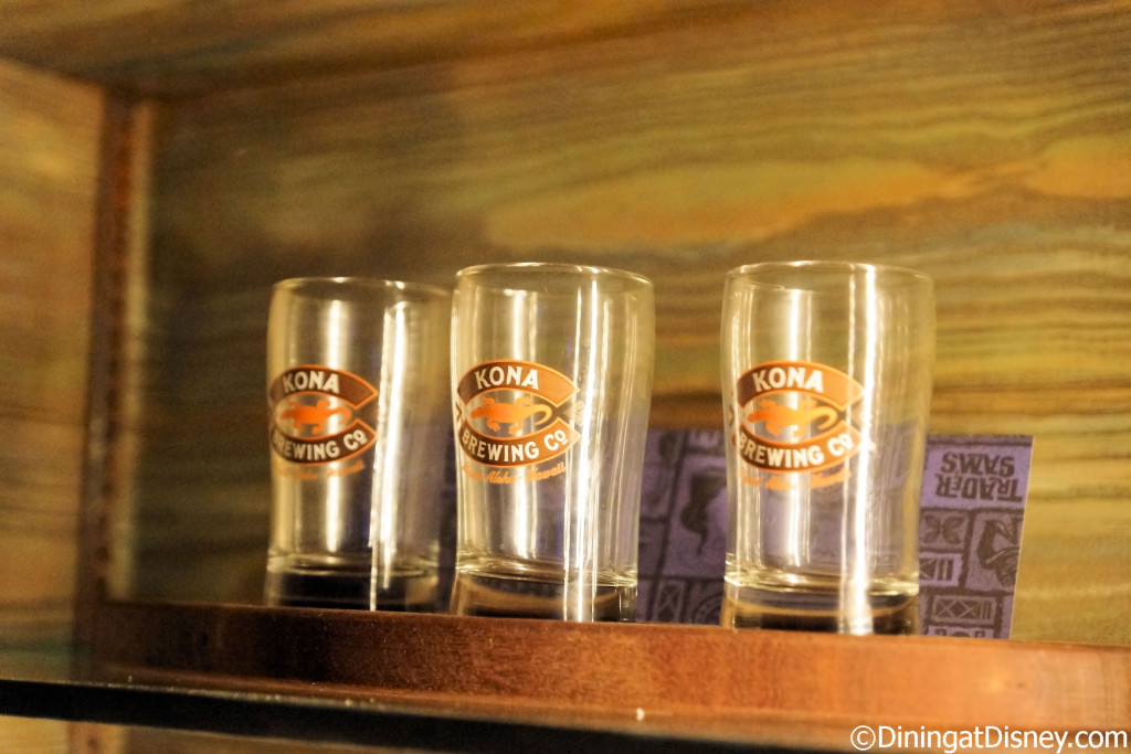 The Kona Beer Flight - (5-oz pour of each) Longboard Island Lager, Fire Rock Pale Ale and Castaway IPA at Trader Sam's Grog Grotto