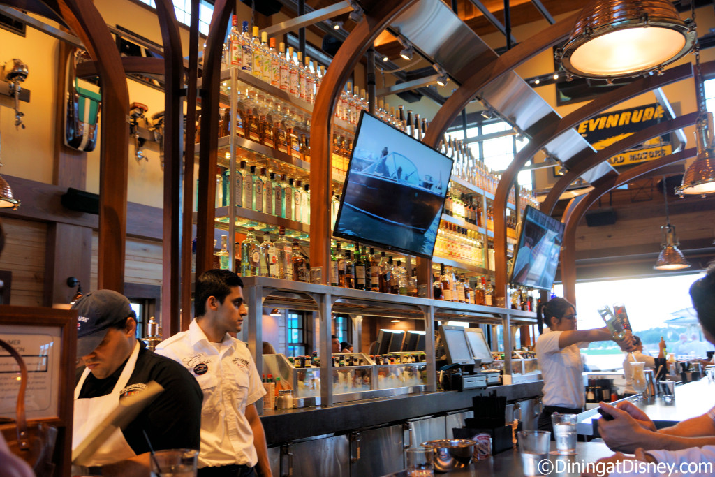 The main bar inside The BOATHOUSE in Disney Springs