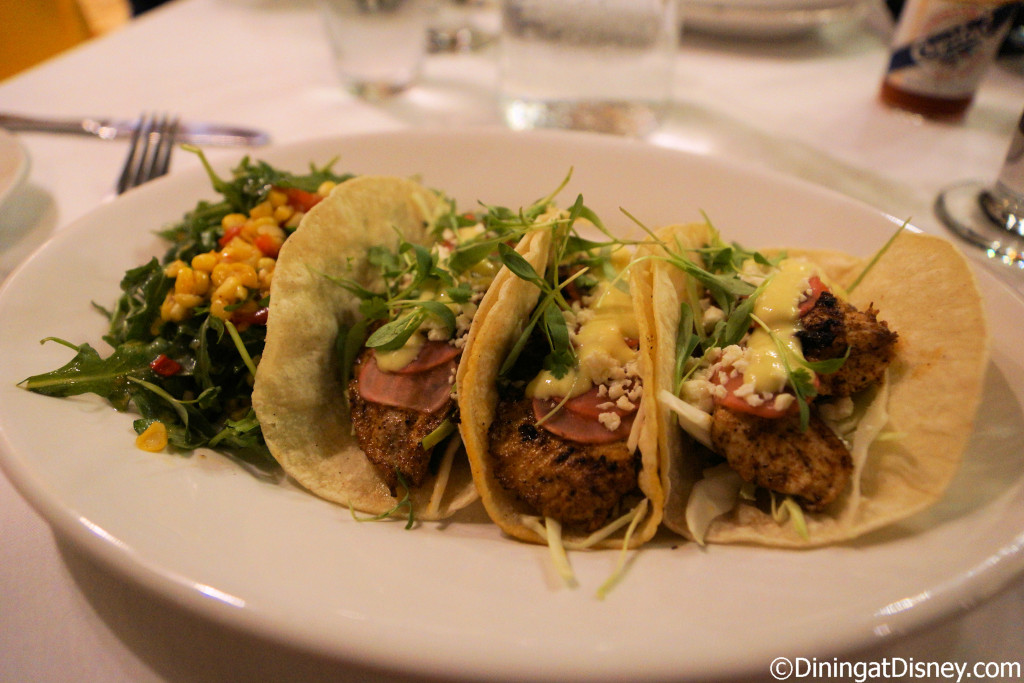 Grilled line caught Florida Mahi-Mahi tacos at The BOATHOUSE in Disney Springs
