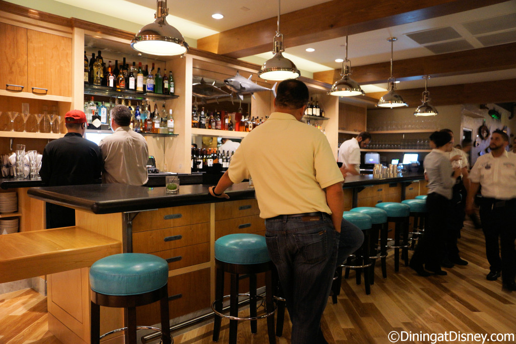 A second bar located in the second dining room at The BOATHOUSE in Disney Springs