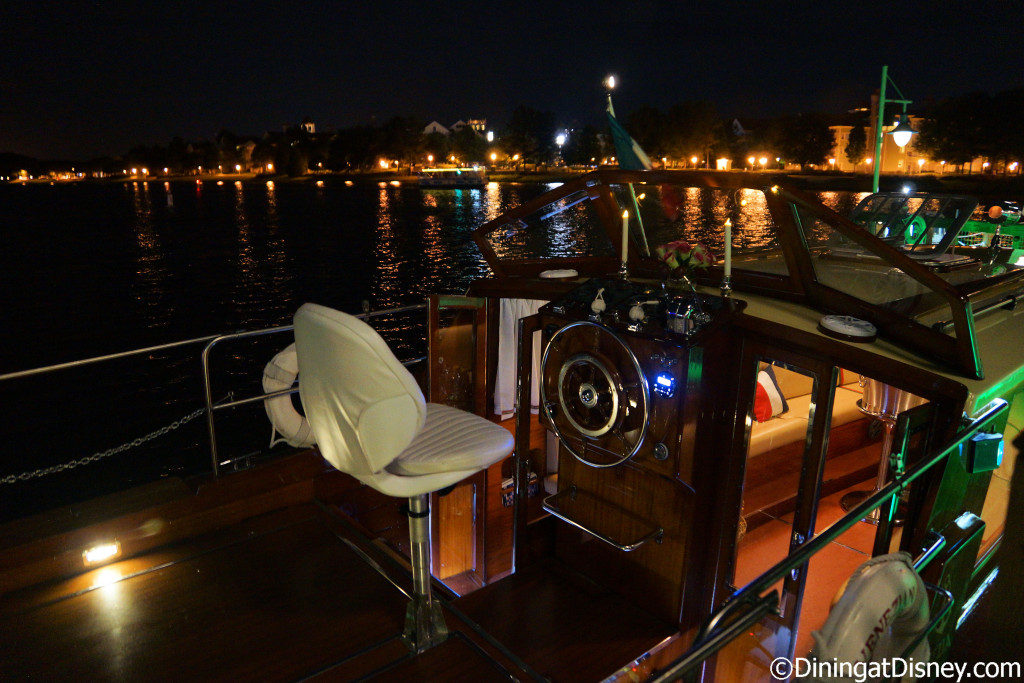 "The ""party boat"" can hold up to 8 guests at The BOATHOUSE in Disney Springs"