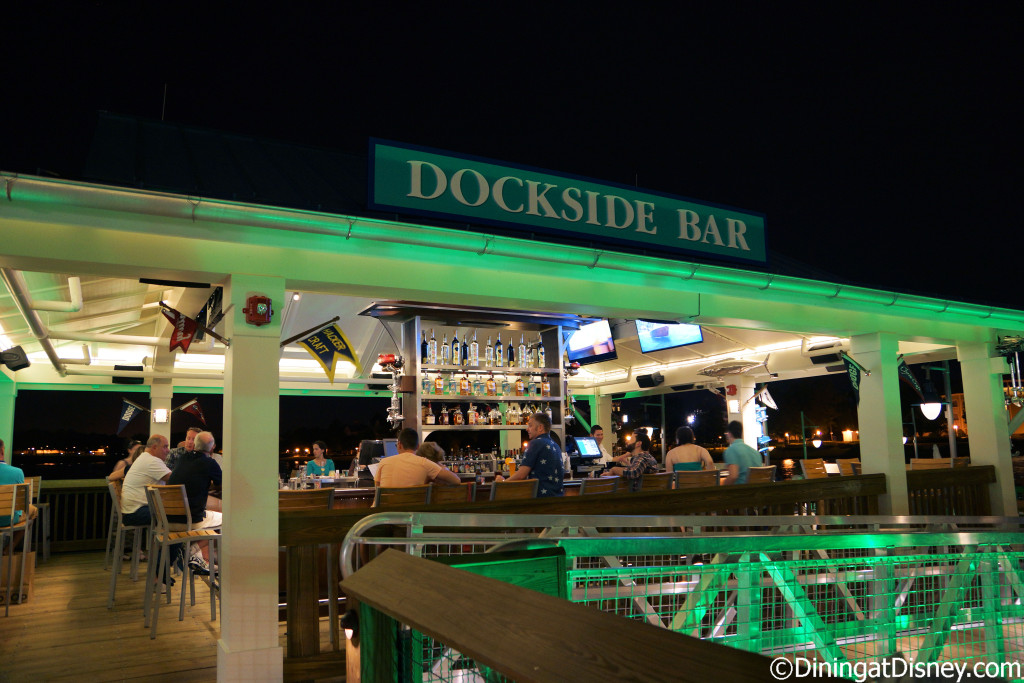 Dockside Bar is located behind The BOATHOUSE along the water