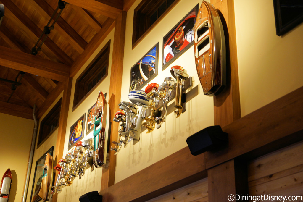 Boating decor covers the walls throughout The BOATHOUSE