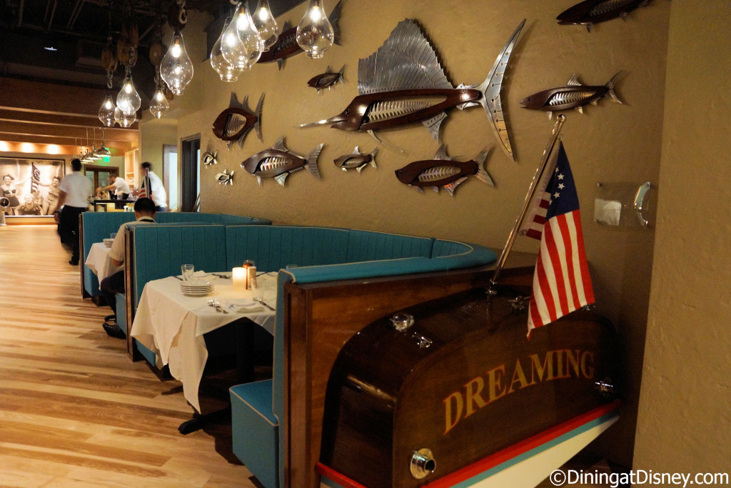 The first dining room at The BOATHOUSE in Disney Springs