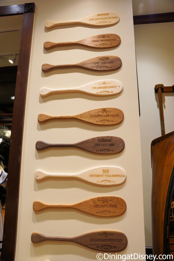 Personalized paddles are available at The BOATHOUSE in Disney Springs