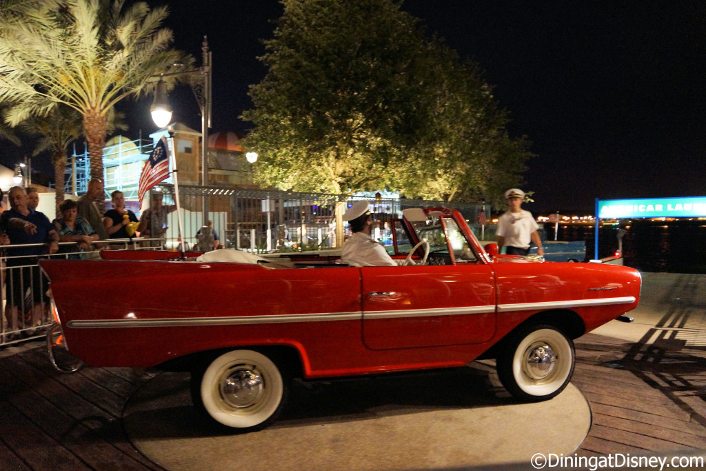 Guests can ride around in one of the the Ampicars at The BOATHOUSE in Disney Springs