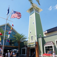 The BOATHOUSE sits along the water in Disney Springs
