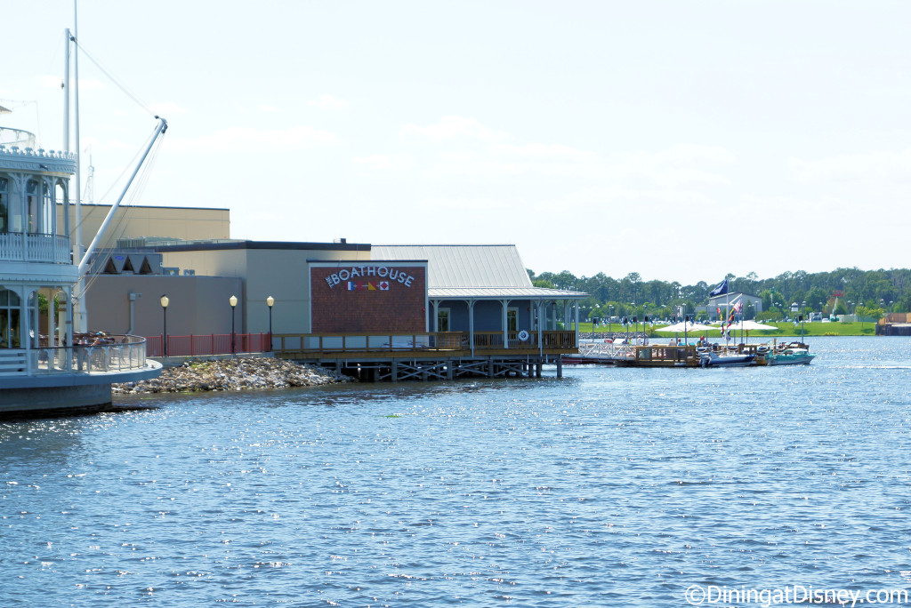 The BOATHOUSE is expansive and backup to Fulton's Crab House on the Marketplace side