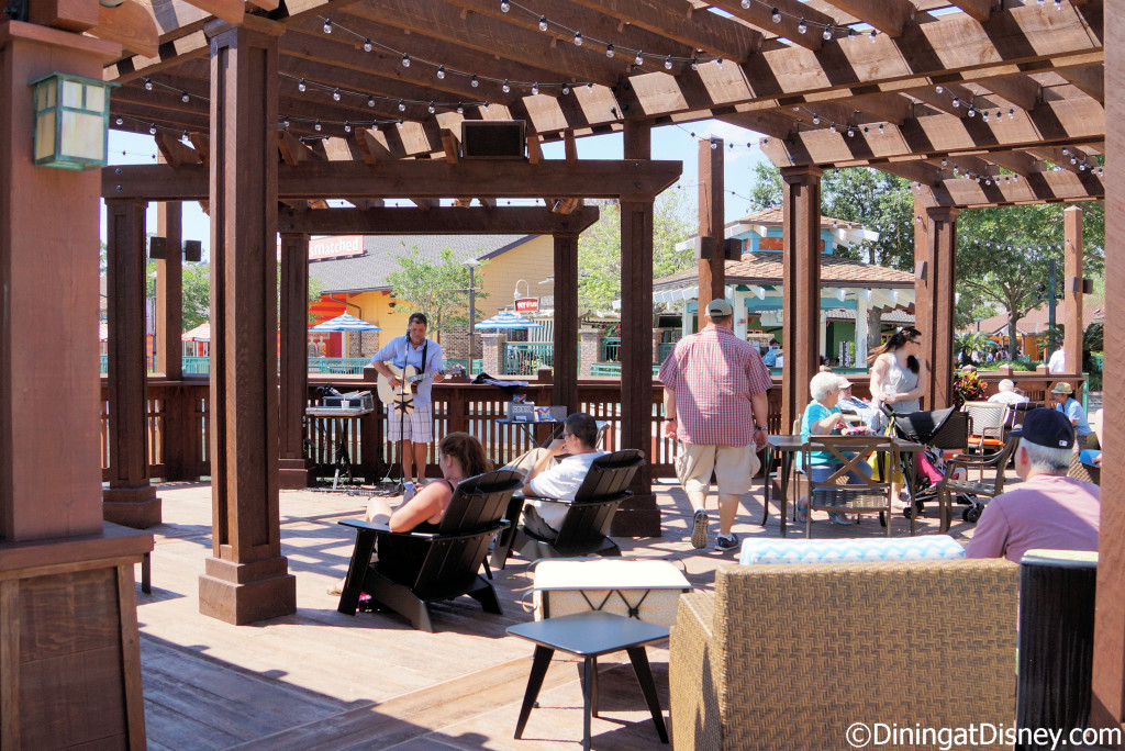 Sit back, relax and enjoy some live music at Dockside Margaritas in Disney Springs The Marketplace