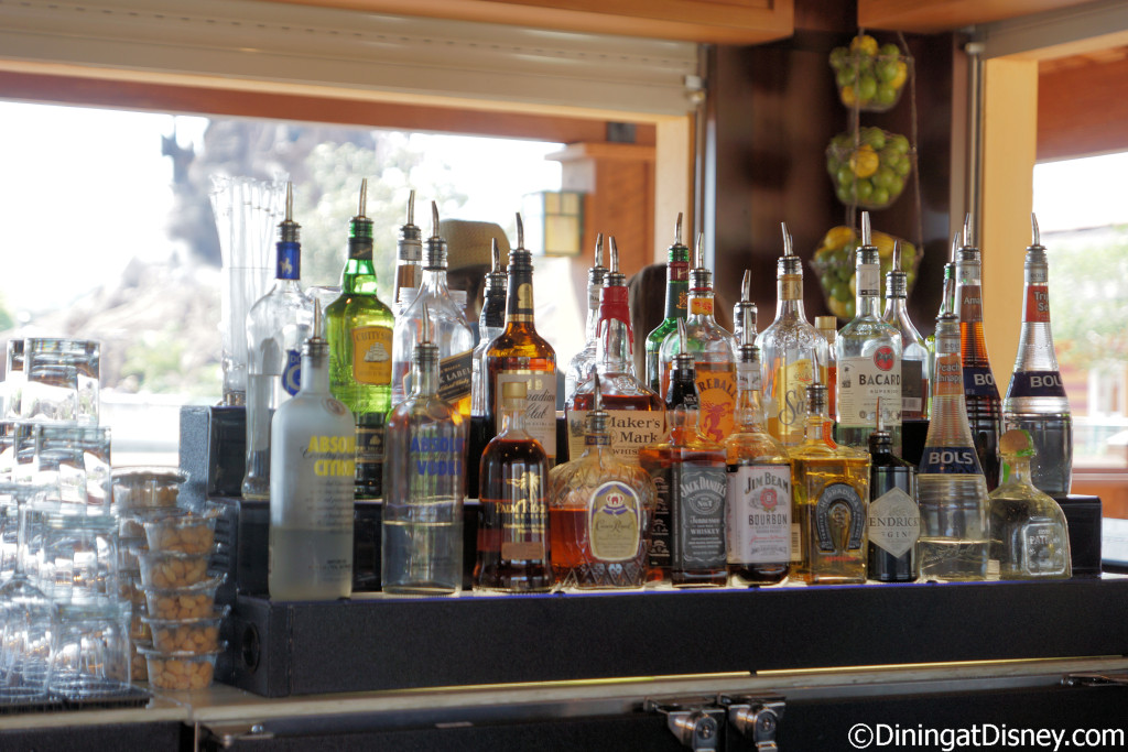 Liquors available at Dockside Margaritas in Disney Springs The Marketplace