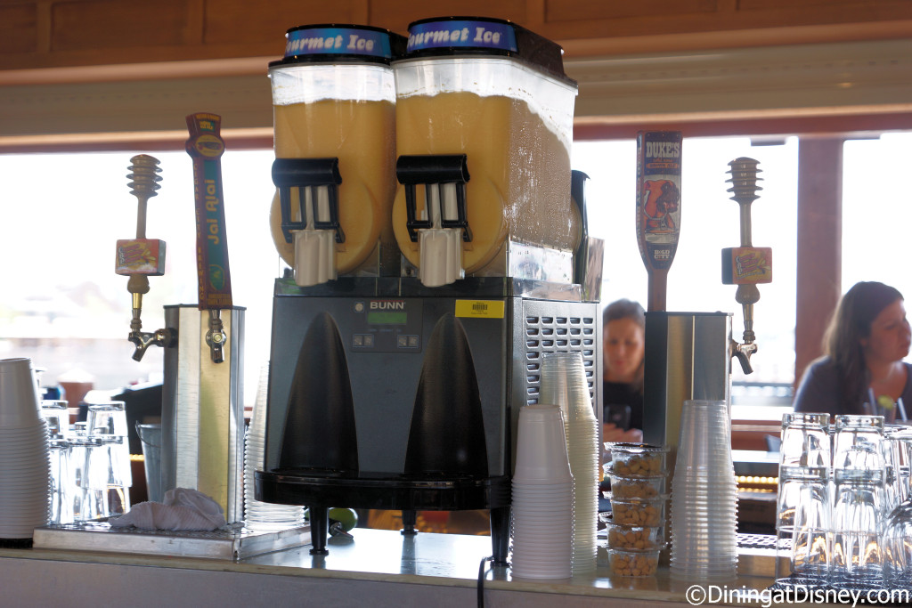 Frozen drinks and draft beers at Dockside Margaritas in Disney Springs The Marketplace