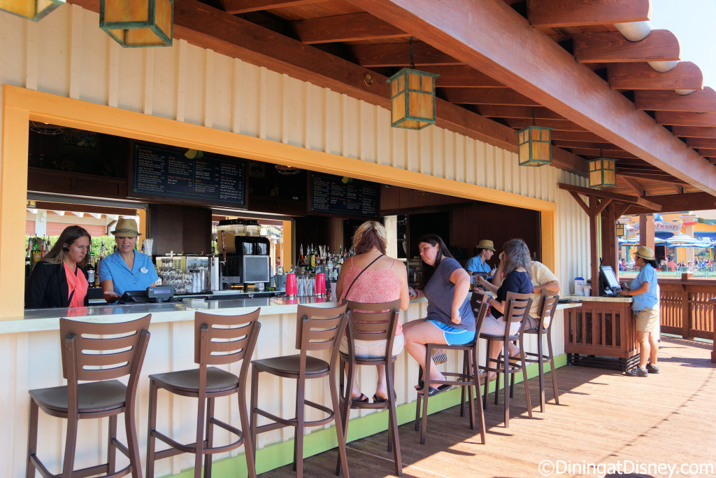 Guests can sit at the bar on the backside of Dockside Margaritas in Disney Springs The Marketplace