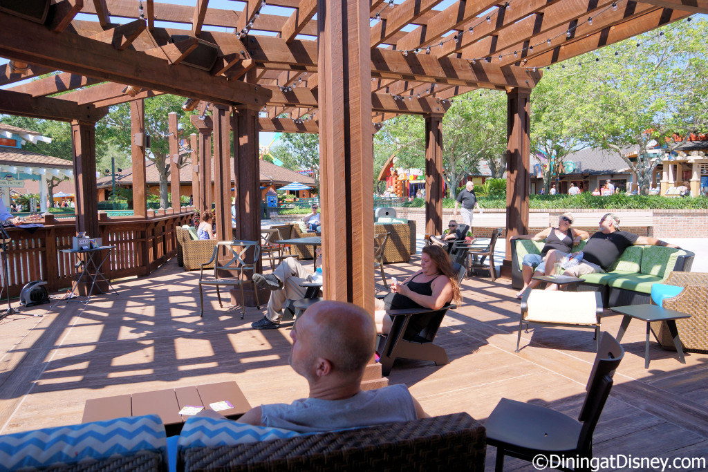 Plenty of seating to relax at Dockside Margaritas in Disney Springs The Marketplace