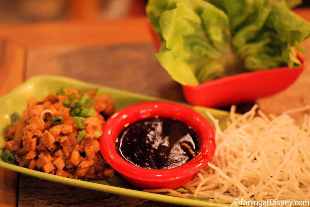Chicken Lettuce Cups at Trader Sam's Enchanted Tiki Bar in Disneyland Hotel