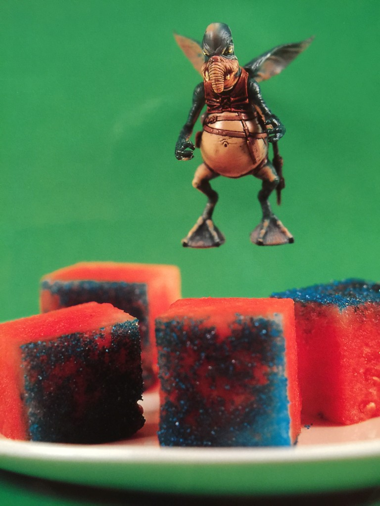 Star Wars fans will love this recipe for Watto-melon Cubes