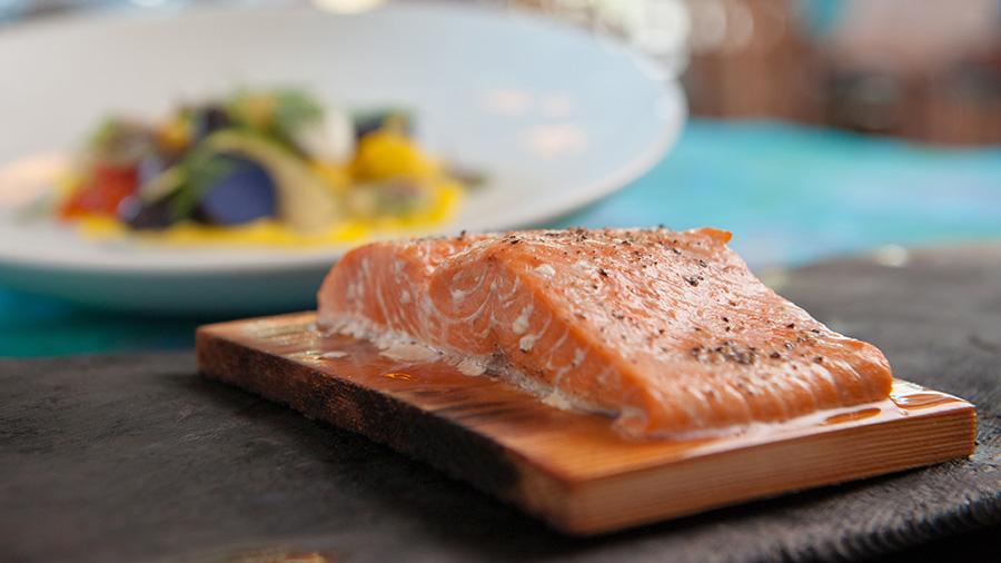The cedar plank salmon at Artist's Point is a fan favorite
