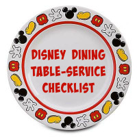 Disney Dining Table-Service Checklist 2015 - Mickey Mouse plate