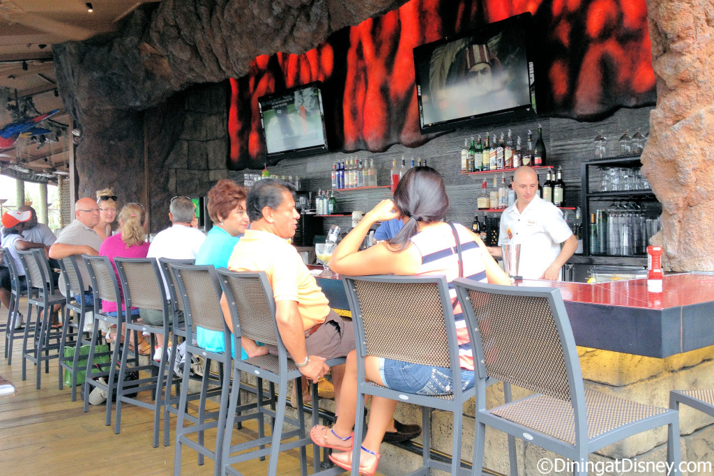 The Lava Lounge is located at Rainforest Cafe in Disney Springs