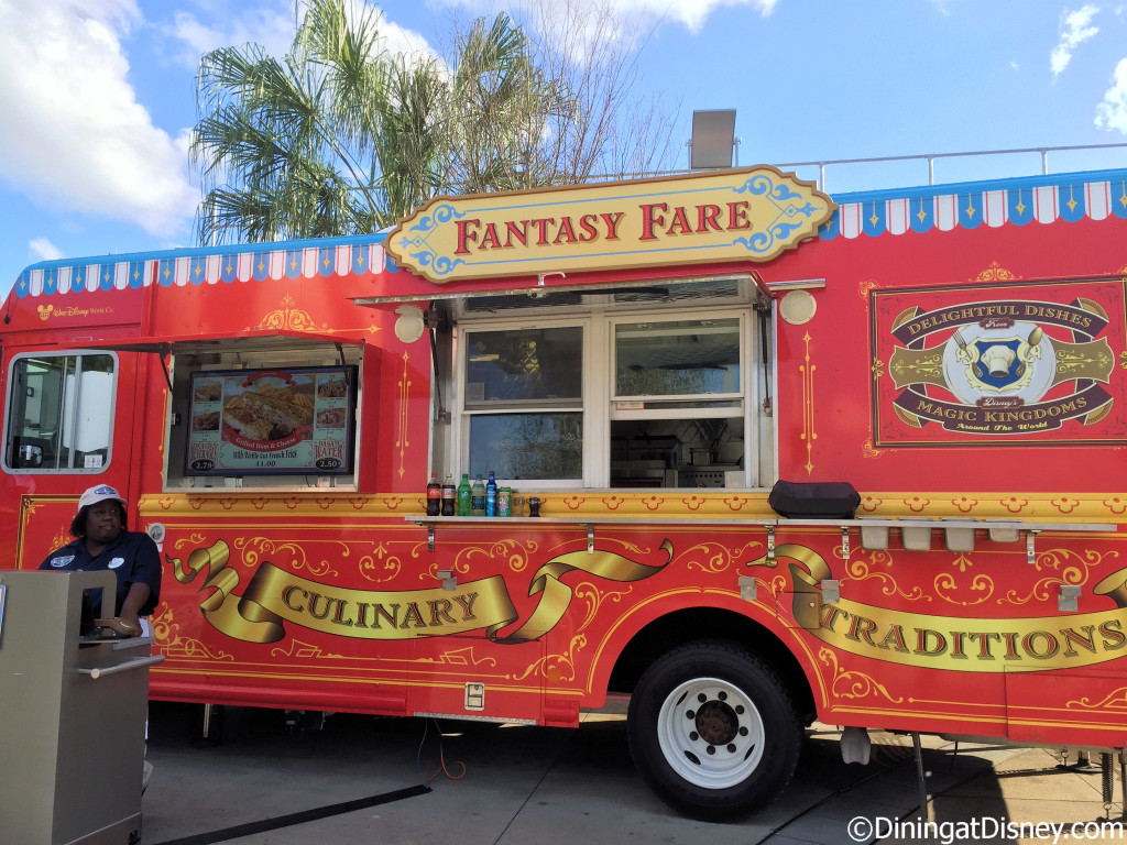Fantasy Fare food truck in Exposition Park in Disney Springs