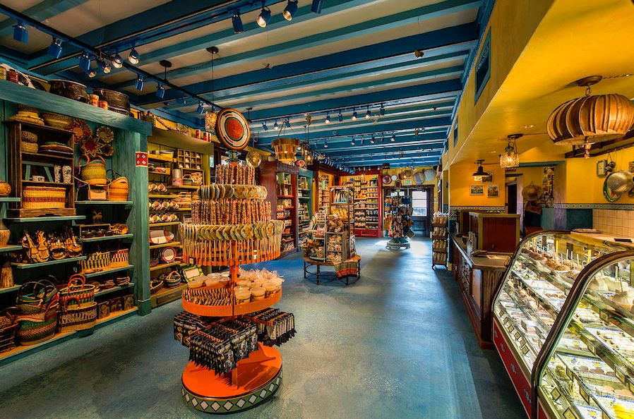 The inside of  Zuri's Sweet Shop in Harambe Market at Disney's Animal Kingdom