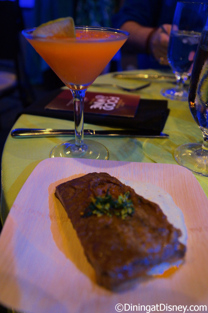 Pork Spareribs with red wine, fennel, and cheesy mascarpone grits with Frozen Chew-tini from Sustainable Chew - 2015 Epcot Food and Wine Festival preview event