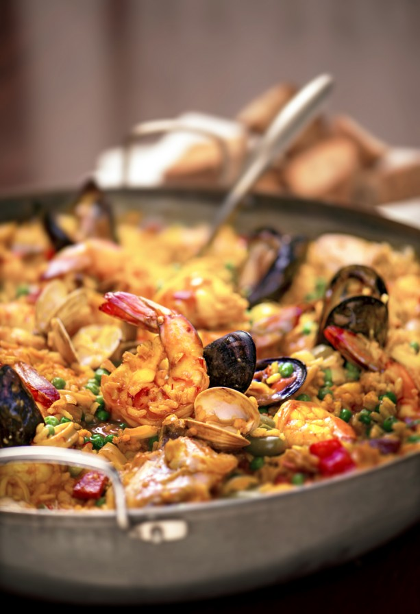 Seafood Paella served on Disney Cruise Line's Disney Magic sailings from Barcelona, Spain