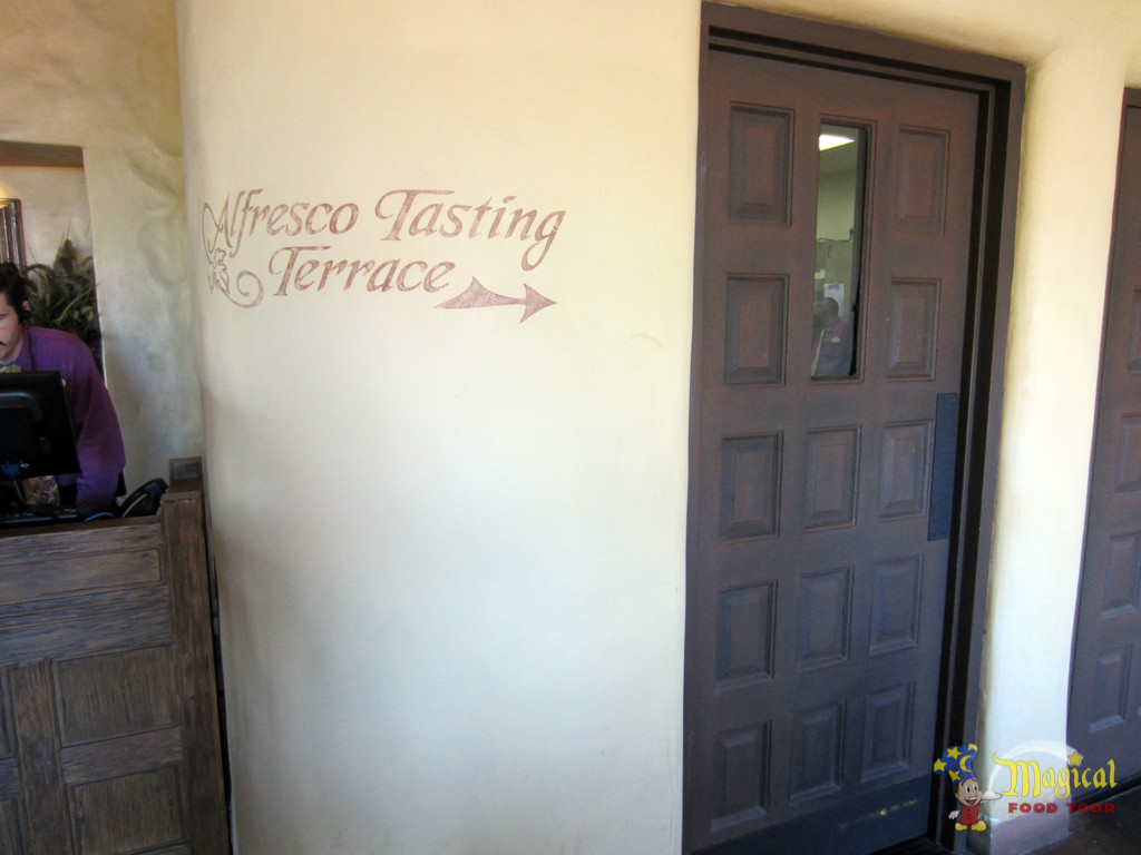 Alfresco Tasting Terrace Sign