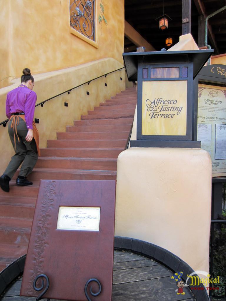 Alfresco Tasting Terrace Stairway
