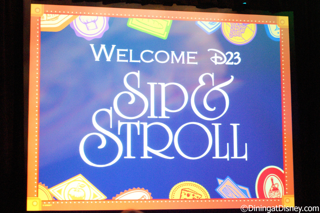 D23 Sip and Stroll features presentations