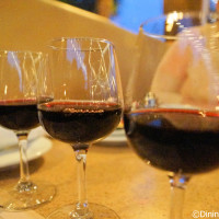 The Disney Family of WInes wine flight at Alfresco Tasting Terrace in Disney California Adventure