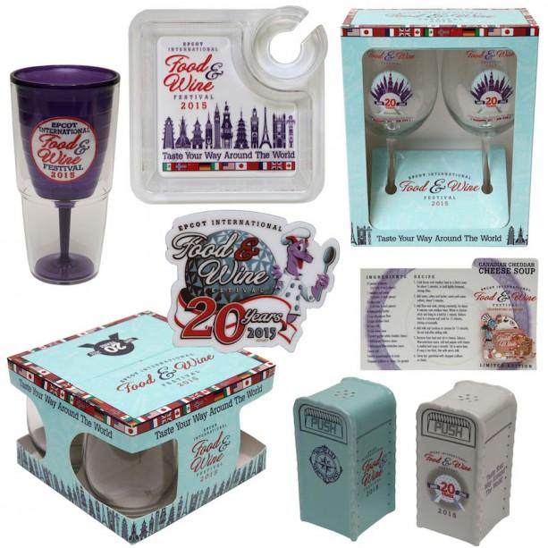 2015 Epcot Food and Wine Festival World Showcase merchandise