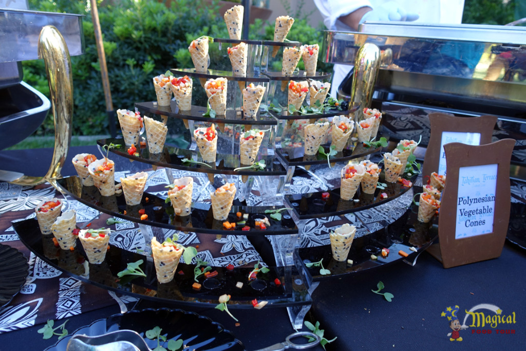 Polynesian Vegetable Cone Tray