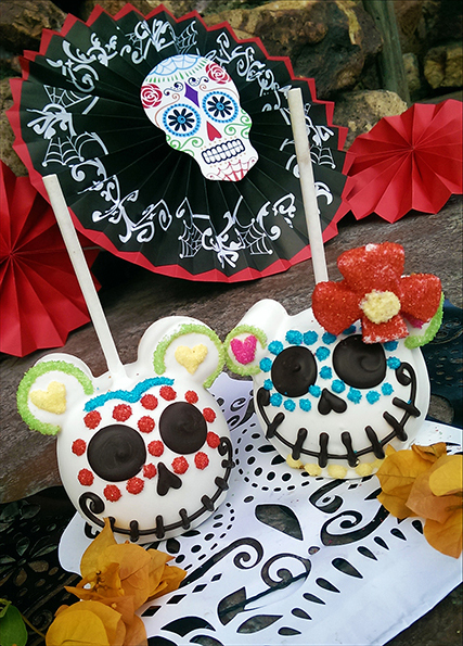 Dia de los muertos candy apples [photo by: Disney]