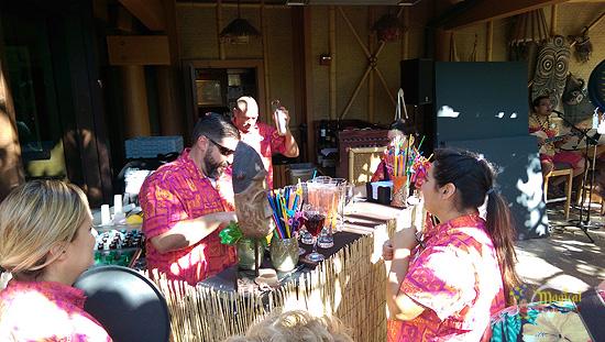 Bartenders serving drinks from MahaloWeen 2014