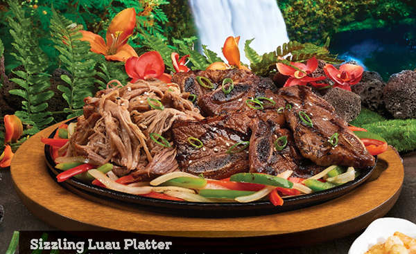 Sizzling Luau Platter at Rainforest Cafe