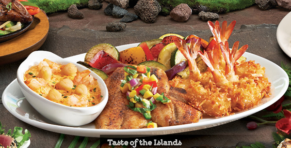 Taste of the Islands is featured on the Aloha Adventures menu