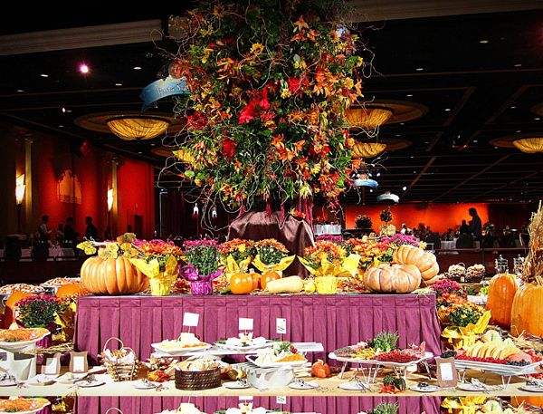 Thanksgiving feast at the Disneyland Hotel