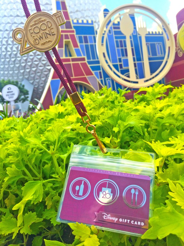 20th anniversary Epcot International Food and Wine Festival lanyard and gift card