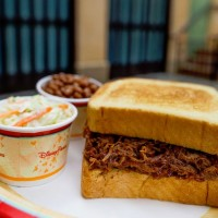 Pull pork sandwich at Tortuga Tavern in Magic Kingdom