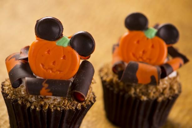 Mickey pumpkin cupcakes at Disney's Animal Kingdom